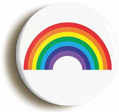 rainbow cute badge button pin (size is 1inch/25mm diameter) pride lgbt