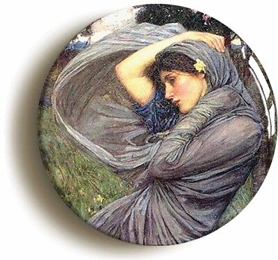 boreas jw waterhouse badge button pin (1inch/25mm diameter) art pre-raphaelite
