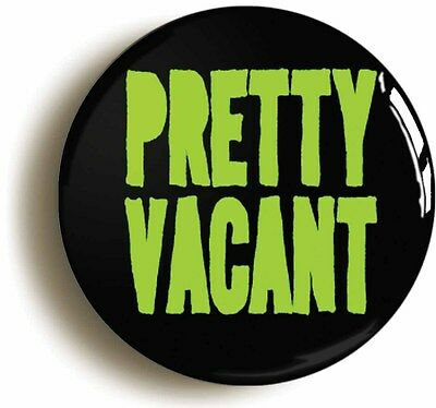 pretty vacant retro punk rock badge button pin (1inch/25mm diameter) 1970s