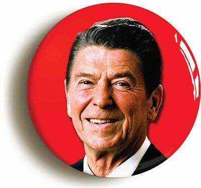 ronald reagan badge button pin (size is 1inch/25mm diameter) retro eighties 1980