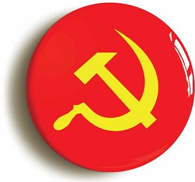 communist soviet union flag retro badge button pin (1inch/25mm diamtr) 1980s