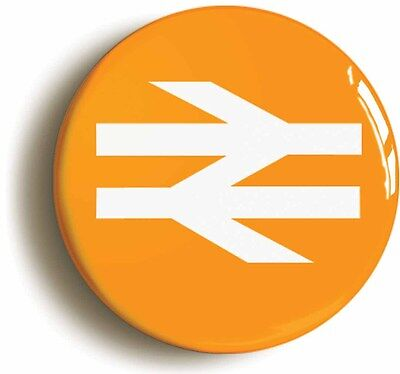 british rail railways retro orange logo badge button pin (1inch/25mm diameter)