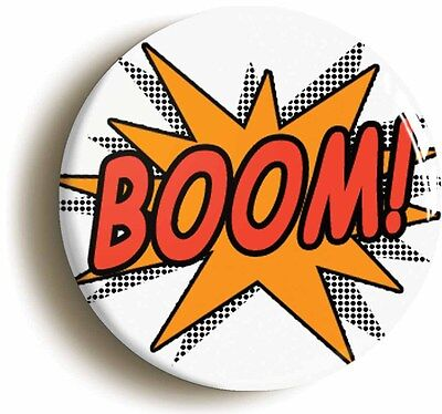 boom comic pop art badge button pin (size is 1inch/25mm diameter) funny geek