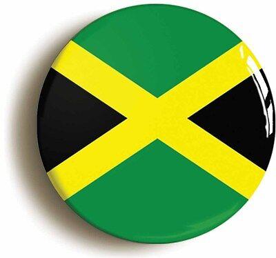 jamaica flag badge button pin (1inch/25mm diametr) reggae rastafarian jamaican