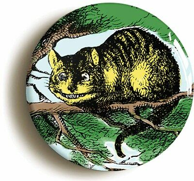alice in wonderland - cheshire cat badge button pin (1inch/25mm) lewis carroll