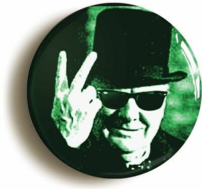 punk winston churchill victory sign badge button pin (1inch/25mm diameter)