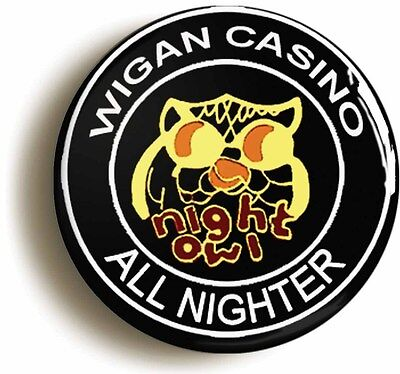 night owl northern soul badge button pin (size is 1inch/25mm diameter)