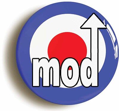 mod badge button pin classic sixties retro (size is 1inch/25mm diameter) 1960s