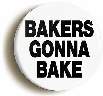BAKING IS AWESOME BADGE BUTTON PIN Size is 1inch//25mm diameter