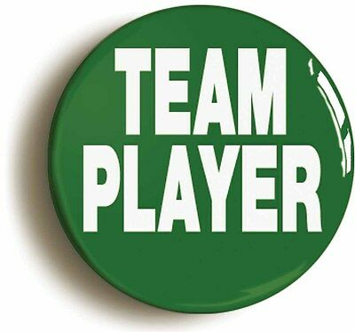 team player badge button pin (size 1inch/25mm diameter) manager team leader boss