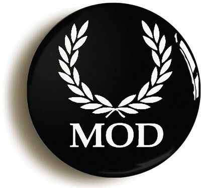 mod badge button pin laurel leaves retro sixties (1inch/25mm diameter) 1960s