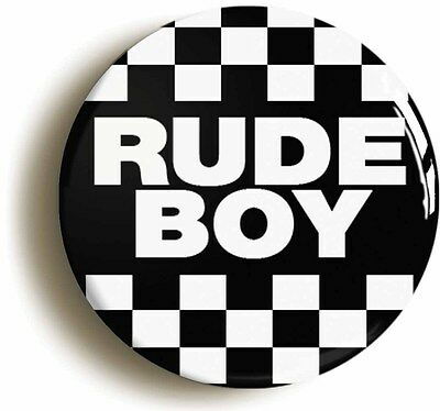 rude boy ska badge button pin (size is 1inch/25mm diameter) mod seventies