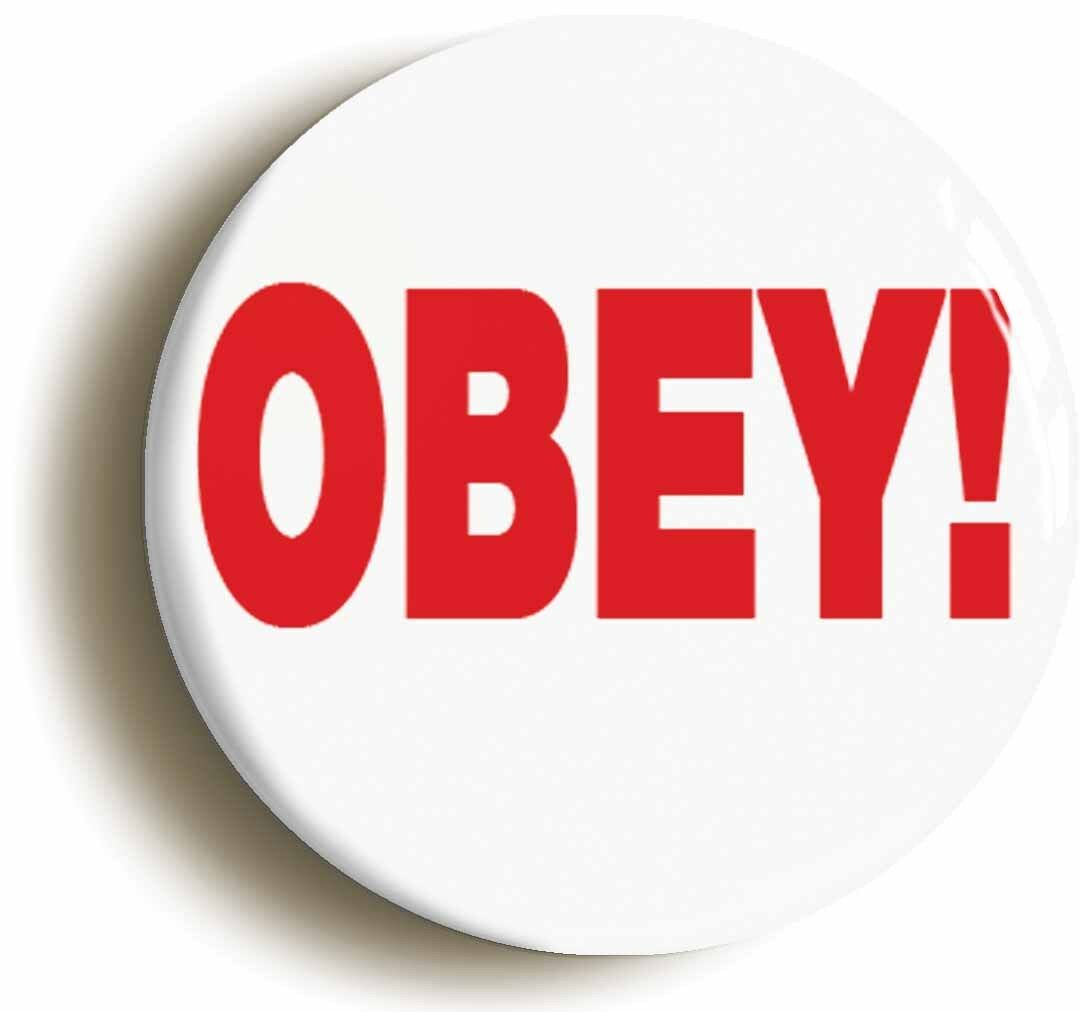obey funny manager badge button pin (size is 1inch/25mm diameter) boss