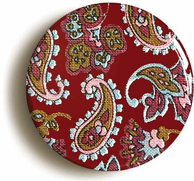 paisley pattern sixties badge button pin (1inch/25mm diameter) lsd psychedelic