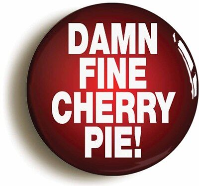 damn fine cherry pie badge button pin (size is 1inch/25mm diameter) twin peaks