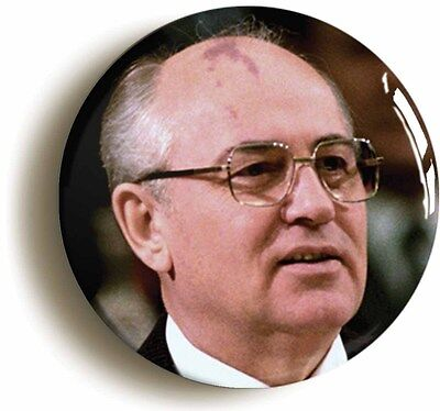 mikhail gorbachev badge button pin (size 1inch/25mm diameter) soviet ussr russia