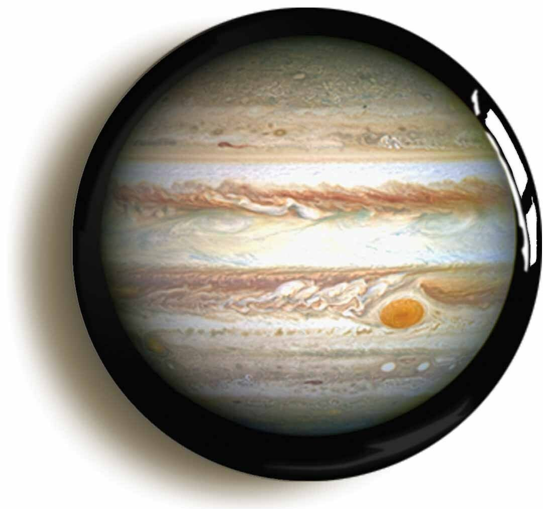 planet jupiter badge button pin (size is 1inch/25mm diameter) space science geek
