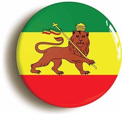 imperial ethiopia flag badge button pin (1inch/25mm diameter) reggae rasta