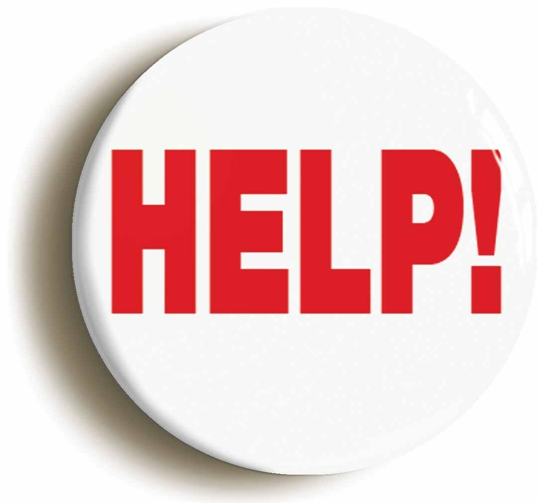 help! badge button pin (size is 1inch/25mm diameter) funny boss manager
