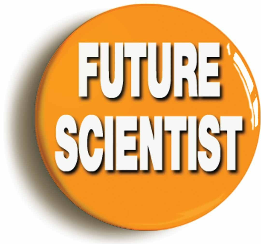 future scientist badge button pin (size is 1inch/25mm diameter) geek costume