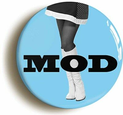mod mini skirt girl retro sixties badge button pin (1inch/25mm diameter) 1960s
