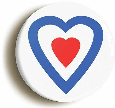 heart mod badge button pin (size is 1inch/25mm diameter) retro sixties 1960s