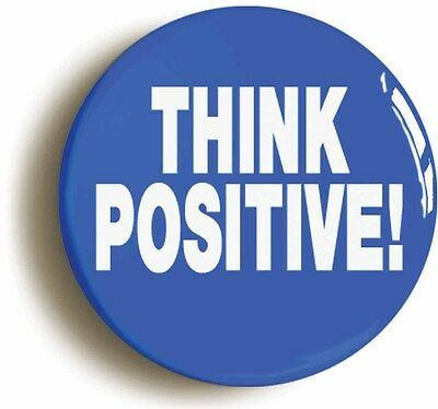 think positive badge button pin (1inch/25mm diameter) manager team leader boss