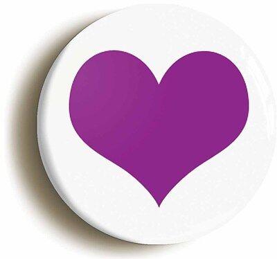 mod purple heart retro sixties mod badge button pin (1inch/25mm diameter)