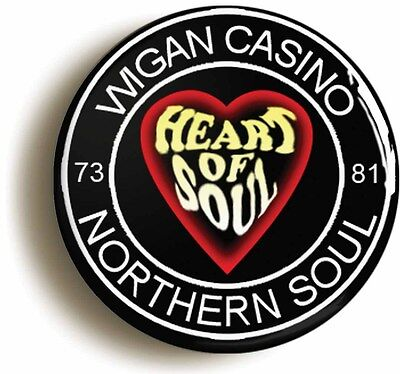 heart of soul northern soul badge button pin (size is 1inch/25mm diameter)