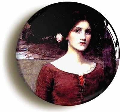 lady clare jw waterhouse badge button pin (1inch/25mm diam) art pre-raphaelite