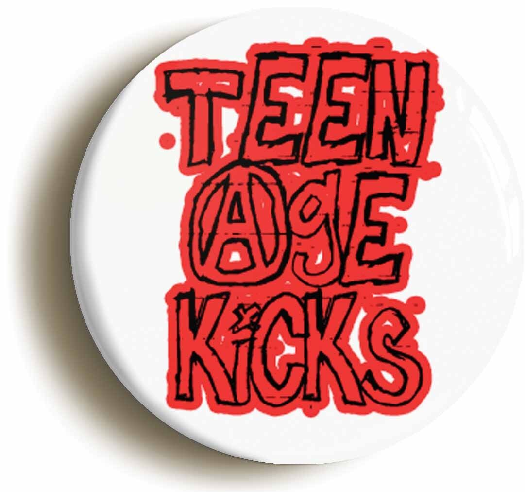 teenage kicks punk badge button pin (size is 1inch/25mm diameter) 1970s