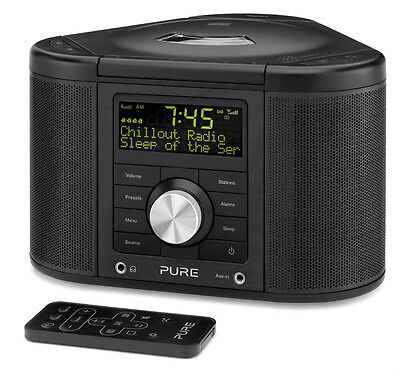 Pure Chronos CD Series 2 DAB FM Alarm Clock Radio CD Player Hifi