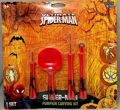 SPIDER-MAN pumpkin carving kit - 2015 edition - NEW package HALLOWEEN