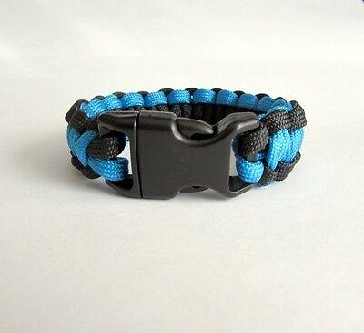 Carolina Panther Colors (Carolina Panthers Team Colors Paracord Bracelet - Blue and)
