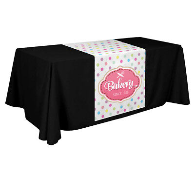 Custom Full Color Trade Show Table Runner 24 X 72 Inches Table Runner For Event