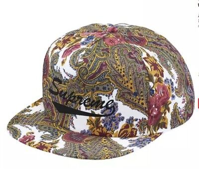 RED BOX SS12 2012 HAT cdg paisley SUPREME FLORAL SUEDE CAMP CAP BEIGE