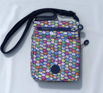 Kipling El Dorado Mini Crossbody Organizer Shoulder Nylon Bag Floral Print