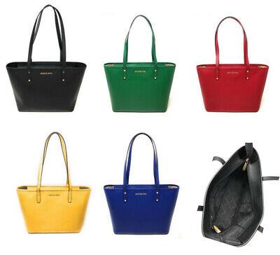 Michael Kors Medium Top Zip Tote Leather Shoulder Bag Handbag -