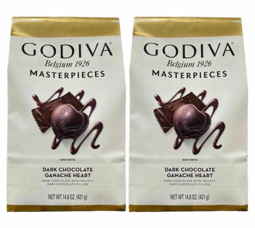 Godiva Masterpieces Dark Chocolate Hearts 14.6 OZ Each (2Packs)