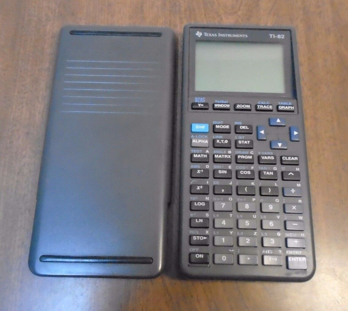 TI-82 Graphing Calculator with Cover Texas Instruments Tested Free Shipping