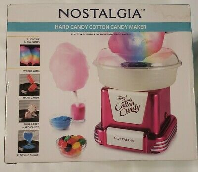 Nostalgia Cotton Candy Machine Maker Electric Floss Or Hard Candy Nos Sealed