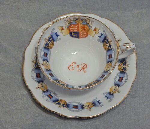 Foley China England Coronation Cup and Saucer Set 1953