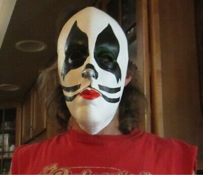 Original Halloween Mask (KISS Peter Criss Halloween Mask 1997, Used once but with original tags, ex)