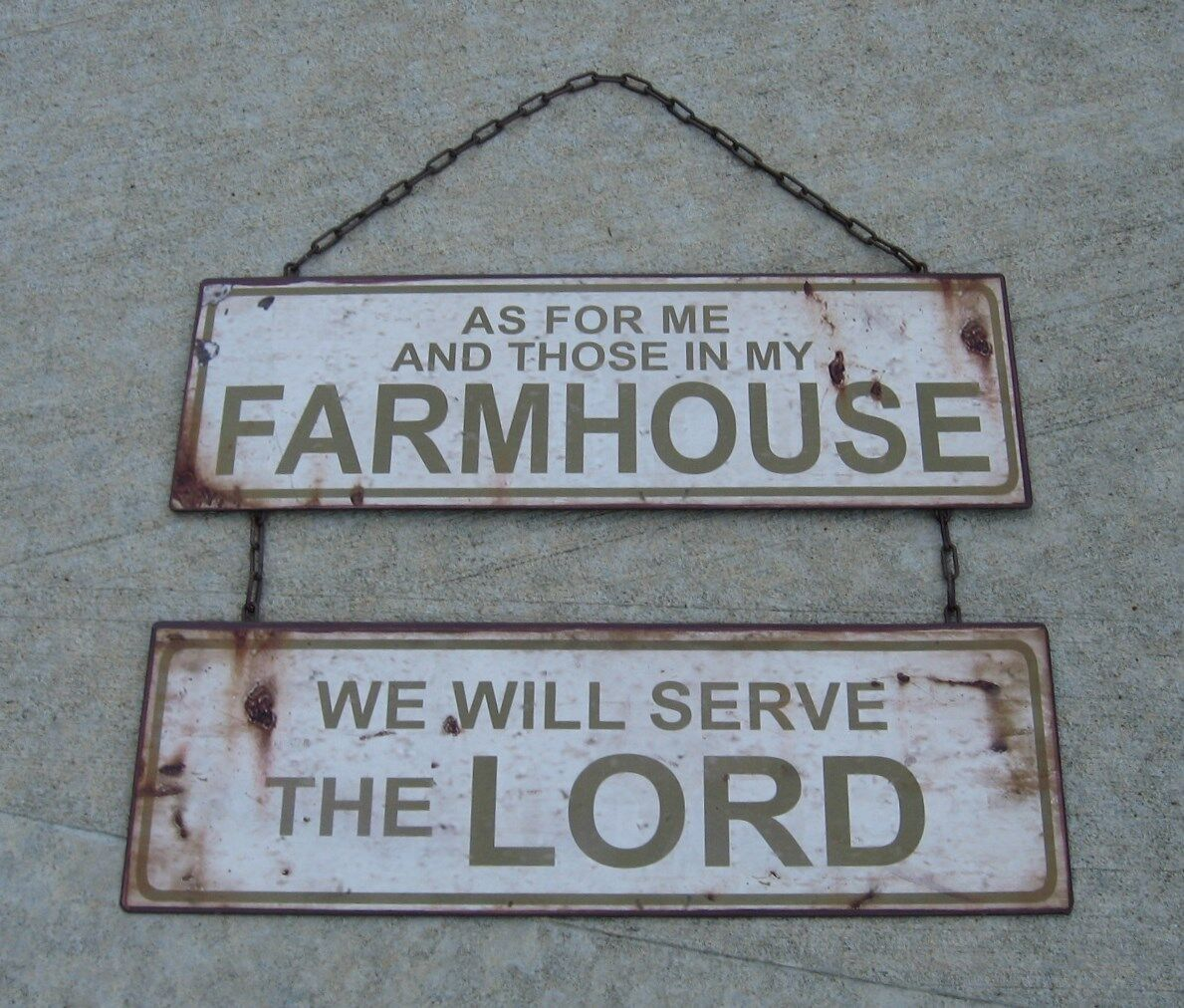 FARMHOUSE Hanging Metal SIGN*Primitive/French Country