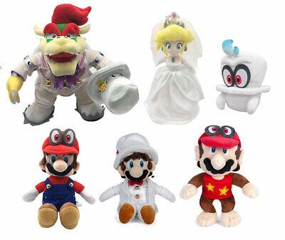 Super Mario Bros Odyssey Plush Stuffed Doll Toy Wedding Form Bowser Koopa Peach - Mario Plush Bros