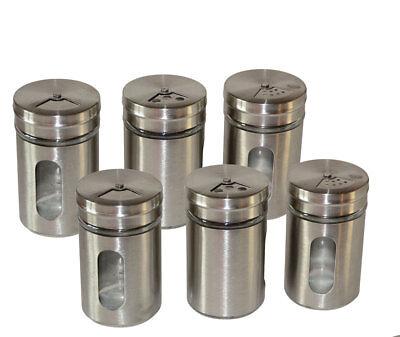 6 Stück Gewürzglas Gewürzdosen Gewürzstreuer Gewürzgläser Salz Pfeffer streuer online kaufen