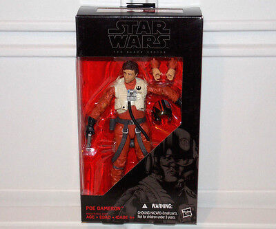 "Star Wars Force Awakens The Black Series #07 POE DAMERON 6"" Pilot Action Figure"