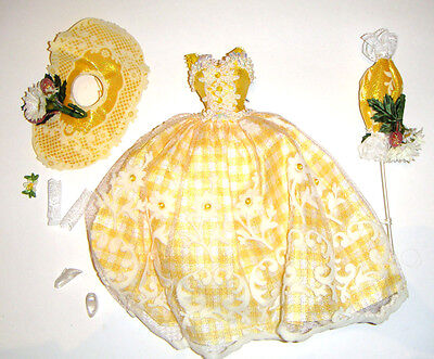 Barbie Doll Sized Fashion Yellow Dress Costume For Barbie Doll rf11 - Barbie Dress Costume