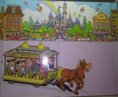 Disney's Magic Kingdom Super Deluxe Colorforms Play Set w/ Extra Colorforms