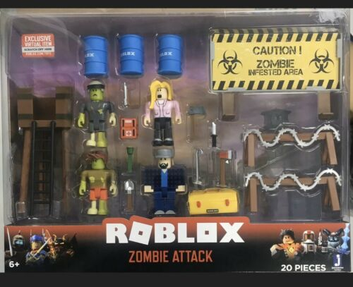 Roblox Action Collection - Zombie Attack Playset with Exclus